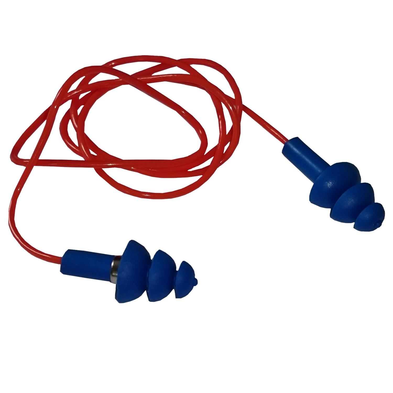 Protector Auditivo copolímero c/cordón 26 DB detectable