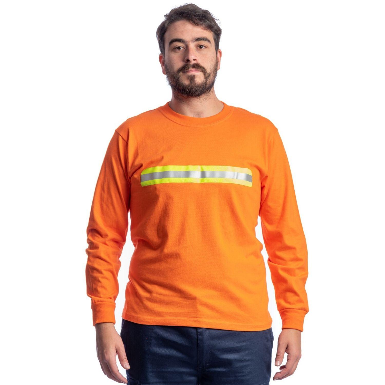 Buzo Camiseta M/larga C/ Cinta Reflectiva - 100% Algodón