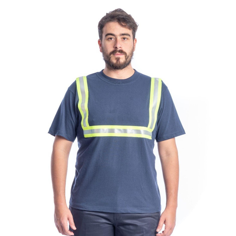Buzo Camiseta M/Corta Con Cinta Reflectiva en H