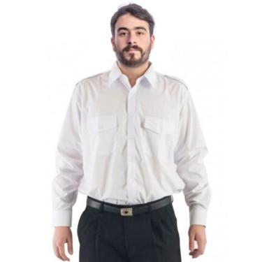Camisa con dos bolsillos con charretera